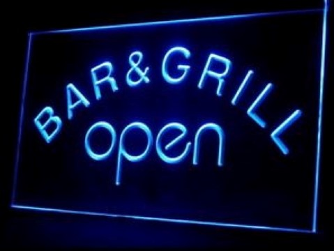 Bar & Grill OPEN LED Neon Sign